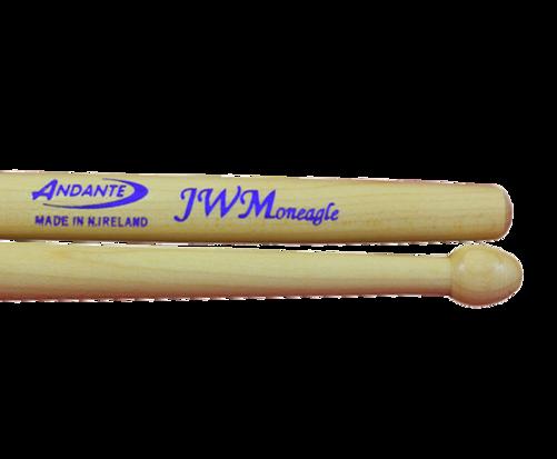 andante 39 jw moneagle 39 pattern side drum sticks the marching band shop. Black Bedroom Furniture Sets. Home Design Ideas
