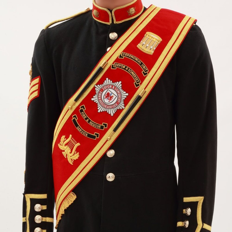 Devon Fire Brigade Drum Majors Sash 1