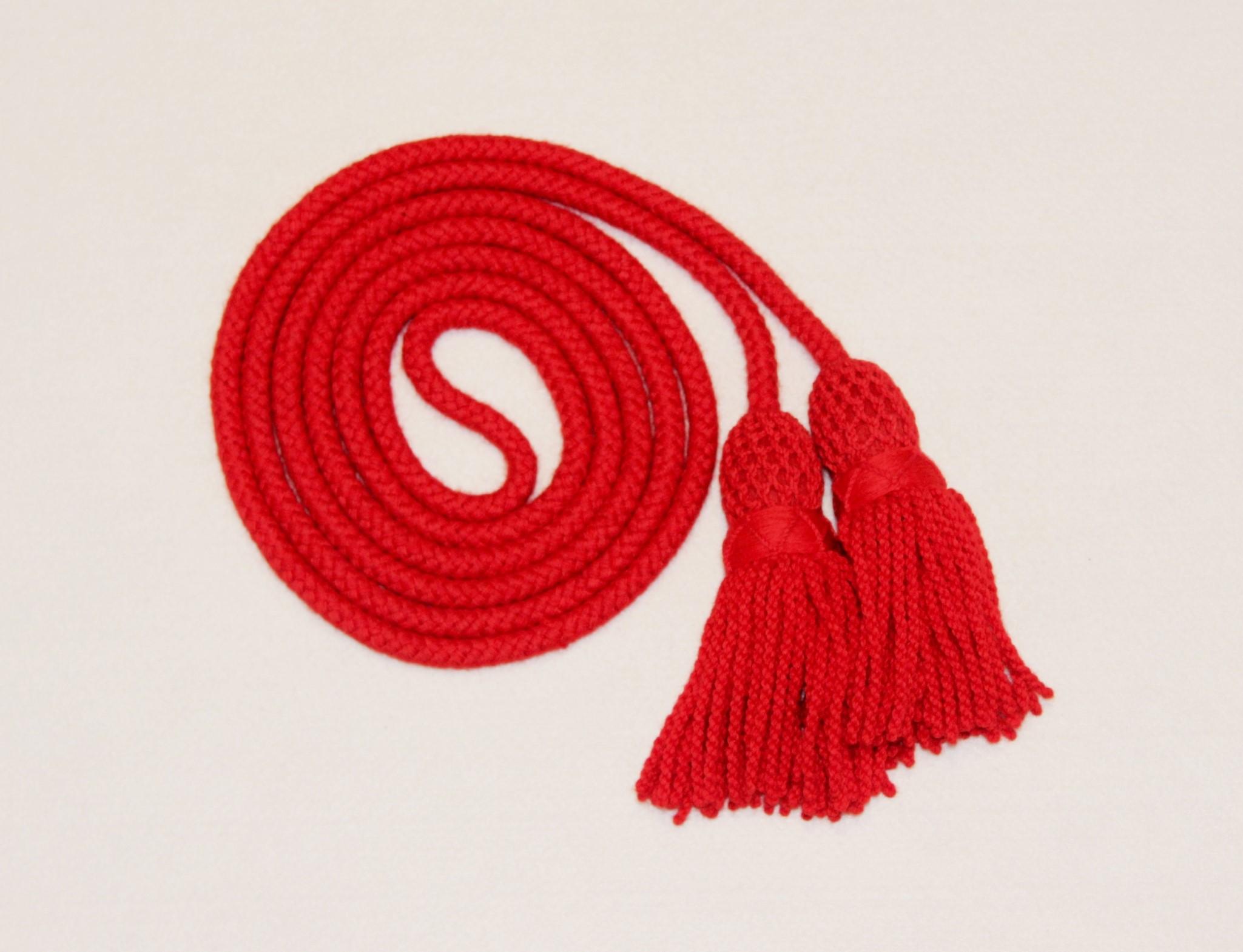 BRASS BUGLE WOOL MULTI  COLOR RED BLACK /& PURPLE//SILVER BUGLE CORD WOOL