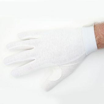 Standard White Beaded Grip Gloves 2