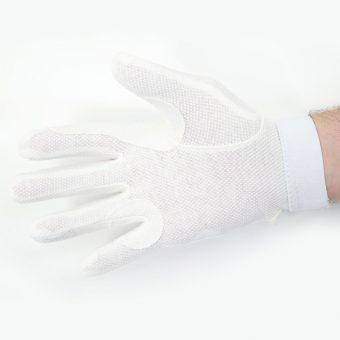 Standard White Beaded Grip Gloves 3