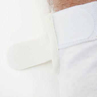 Standard White Beaded Grip Gloves 4