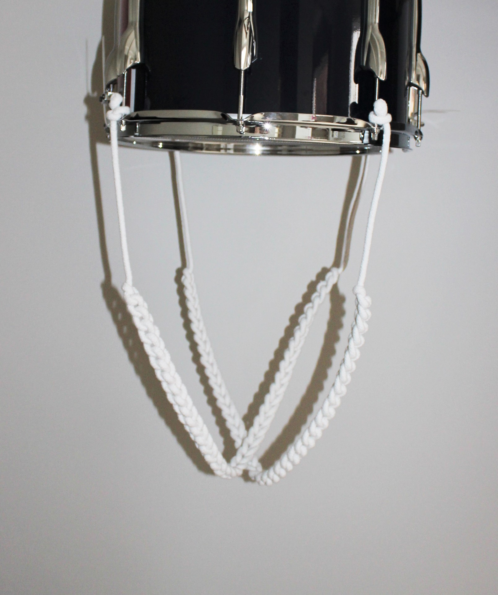 tmbs white cotton drum traces drag ropes the marching band shop. Black Bedroom Furniture Sets. Home Design Ideas