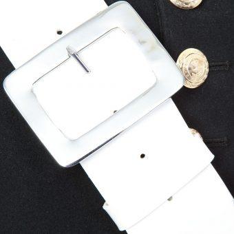 White Gloss PVC Side Drum Sling 2