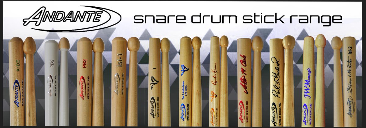 Andante Side Drum Sticks