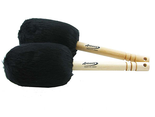 andante bass drum sticks various colours available the marching band shop. Black Bedroom Furniture Sets. Home Design Ideas